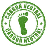 Carbon neutral footprint rubber stamp Royalty Free Stock Photography