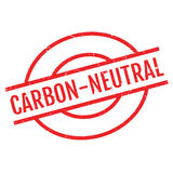 Carbon-neutral rubber stamp Royalty Free Stock Photography