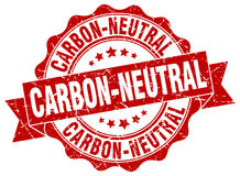 Carbon-neutral stamp. Sign. seal Royalty Free Stock Image