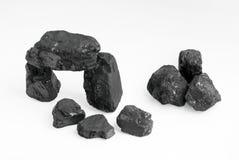 Carbon nuggets Stock Photos