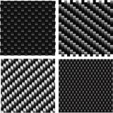 Carbon pattern set. Royalty Free Stock Photo