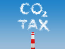 Carbon Tax. Tax on energy sources which emit carbon dioxide Royalty Free Stock Image