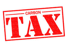 CARBON TAX. Red Rubber Stamp over a white background Royalty Free Stock Images