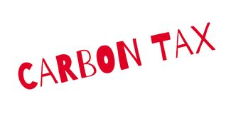 Carbon Tax rubber stamp. Grunge design with dust scratches. Effects can be easily removed for a clean, crisp look. Color is easily changed Royalty Free Stock Photo