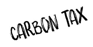 Carbon Tax rubber stamp. Grunge design with dust scratches. Effects can be easily removed for a clean, crisp look. Color is easily changed Stock Photos