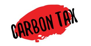 Carbon Tax rubber stamp. Grunge design with dust scratches. Effects can be easily removed for a clean, crisp look. Color is easily changed Royalty Free Stock Image