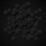 Carbon technology vector abstract background Royalty Free Stock Photography