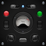 Carbon UI Application Software Controls Set.  Royalty Free Stock Images