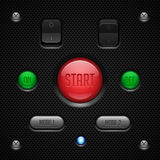 Carbon UI Application Software Controls Set. Switch, Button, Lamp. Web Design Elements. Vector User Interface EPS10 Stock Image