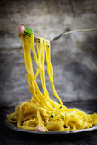 Carbonara спагетти Стоковое Изображение