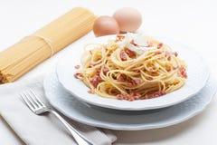 Carbonara alla спагетти Стоковая Фотография