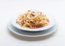 Carbonara alla спагетти Стоковое Изображение RF