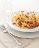 Carbonara alla спагетти Стоковая Фотография RF