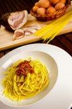 Carbonara alla спагетти Стоковые Фото