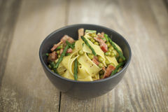 Carbonara with asparagus Royalty Free Stock Photography