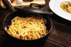 Carbonara do ala dos espaguetes Imagens de Stock Royalty Free