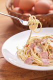 Carbonara dos espaguetes Imagem de Stock Royalty Free