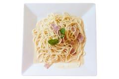 Carbonara dos espaguetes imagens de stock royalty free
