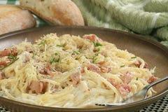 Carbonara dos espaguetes Fotografia de Stock