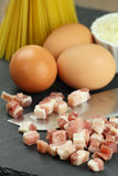 Carbonara ingredients Stock Photos