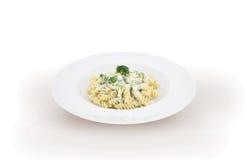 Carbonara italiano de las pastas Imagen de archivo