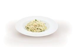 Carbonara italiano de los espaguetis de las pastas Imagenes de archivo