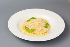 Carbonara pasta Stock Photography