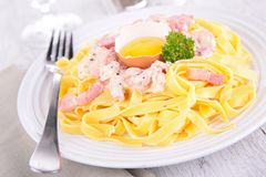 Carbonara pasta Royalty Free Stock Photo