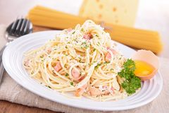 Carbonara pasta Royalty Free Stock Photography