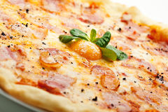 Carbonara Pizza Royalty Free Stock Image