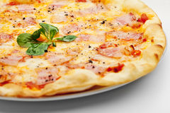 Carbonara Pizza Lizenzfreies Stockbild