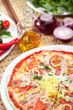 Carbonara Pizza Royalty Free Stock Images