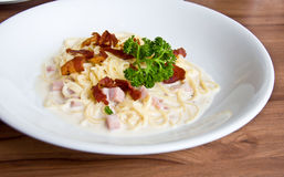 Carbonara spagetti Royalty Free Stock Photo