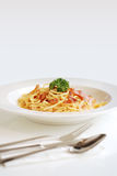 carbonara spaghetti Fotografia Stock