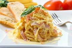 carbonara spaghetti Obraz Stock