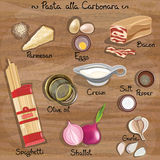 Carbonara van deegwaren stock illustratie