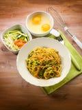 Carbonara vegetariano fotografia stock libera da diritti