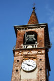 Carbonate old abstract in  italy    tower bell sunny day Royalty Free Stock Photo