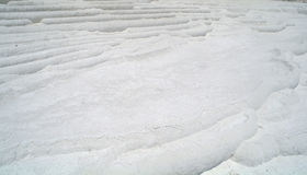 Carbonate travertines terraces Royalty Free Stock Photography