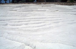Carbonate travertines terraces Stock Photo