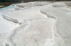 Carbonate travertines terraces Stock Photography