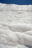 Carbonate wall in Pamukkale, Turkey Royalty Free Stock Photo