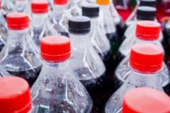 Carbonated бутылки безалкогольного напитка Стоковое Изображение RF