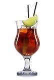 Carbonated коктеиль при известка изолированная на белой предпосылке Стоковое Фото