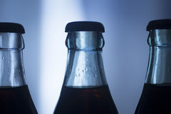 Carbonated soda glass cola soft drink bottle Royalty Free Stock Photos