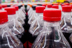 Carbonated soft drink bottles Royalty Free Stock Photo