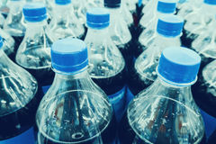Carbonated soft drink bottles Royalty Free Stock Photography