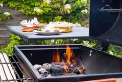 Carbone bruciante del BBQ Fotografia Stock
