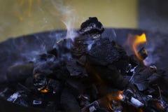Carbone del barbecue Immagini Stock Libere da Diritti