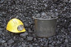 Carbone di estrazione mineraria Fotografia Stock Libera da Diritti